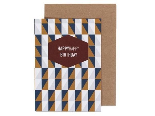 Geburtstagskarte Ava&Yves Squares A6 14,8x10,5cm