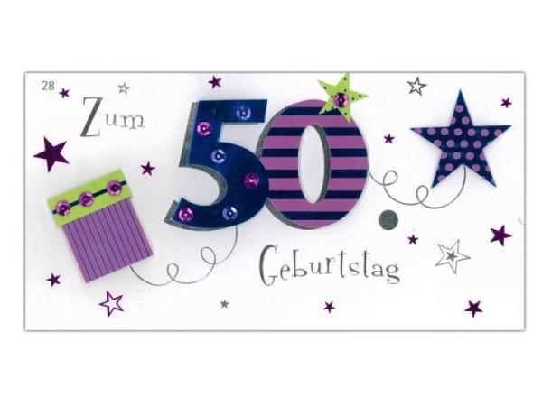 Geburtstagskarte 50 Avan More Geschenk