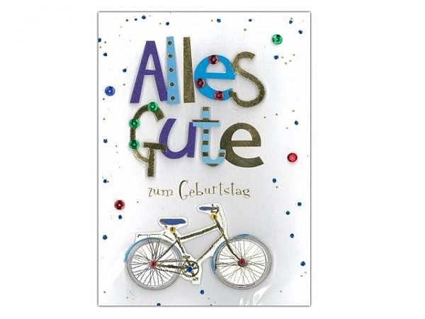 Geburtstagskarte Avan More Fahrrad 11,1x16,5cm