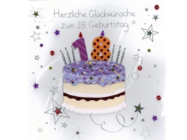 Geburtstagskarte 18 AvanCarte Big Square Geburtstagstorte