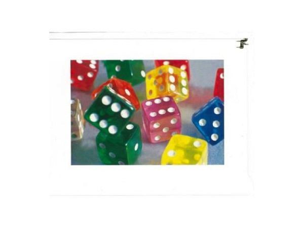 Geburtstagskarte Reiter Foto von versch. Farbenen Würfeln