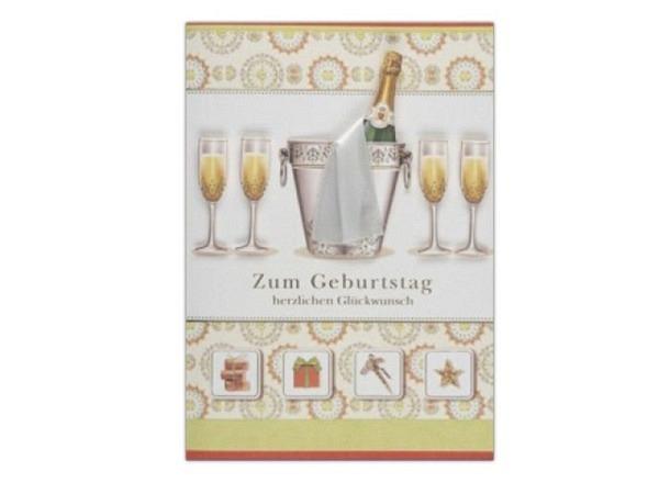 Geburtstagskarte Avan Carte Premium Zum G. Champagnerflasche
