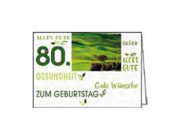 Geburtstagskarte Gollong Zahlengeburtstag 80