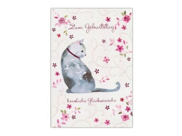 Geburtstagskarte AvanFlair Zum Geburtstag Katze