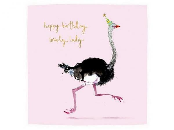 Geburtstagskarte Louise Mulgrew Strauss 15x15cm