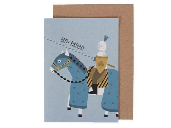 Geburtstagskarte Ava&Yves Ritter A6 14,8x10,5cm