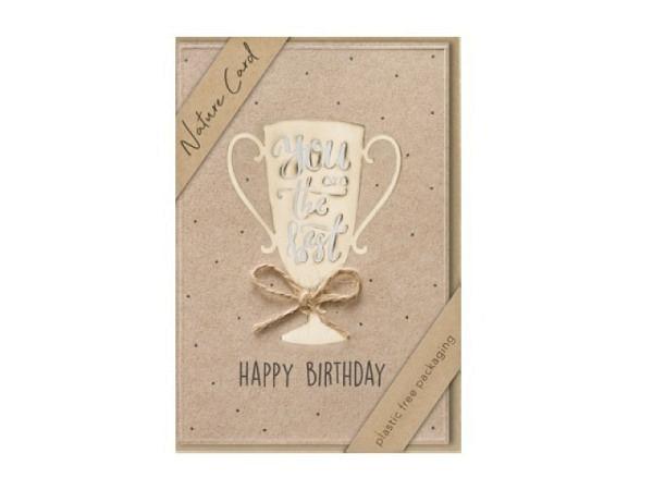 Geburtstagskarte Borer Smiley 15x21cm