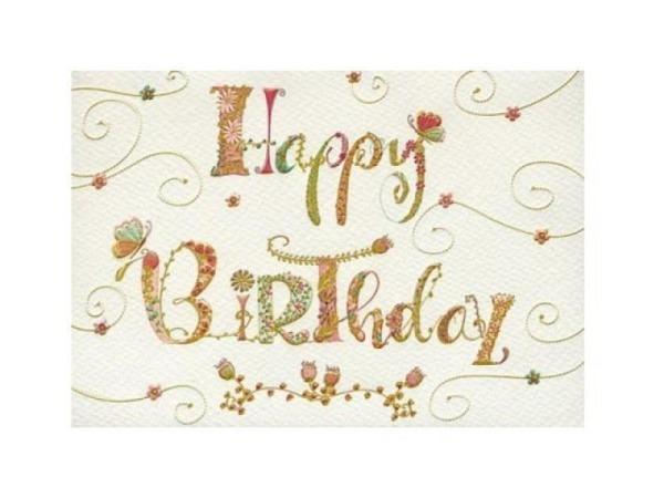 Geburtstagskarte Turnowsky B6 12,5x17,6cm quer Schriftzug
