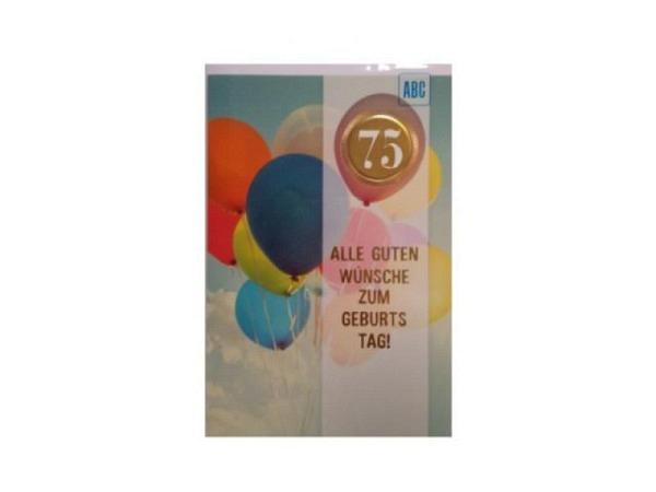 Geburtstagskarte ABC 50 Zahlengeburtstag Baum 11,5x17cm