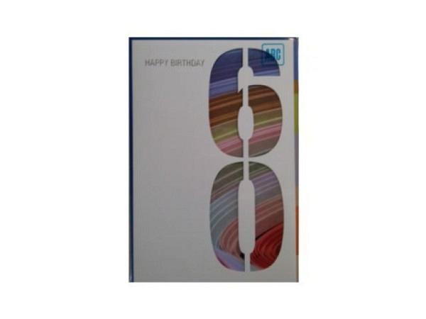 Geburtstagskarte ABC 65 Zahlengeburtstag Baum 11,5x17cm