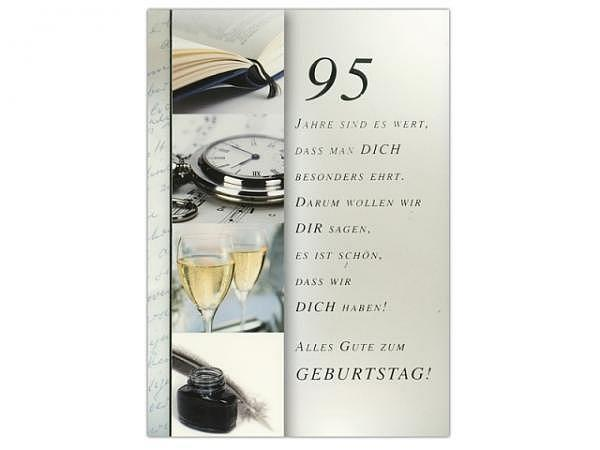Geburtstagskarte ABC 95 Zahlengeburtstag Jahre sind es wert.