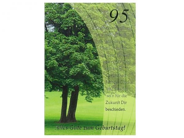 Geburtstagskarte ABC 95 Zahlengeburtstag Baum