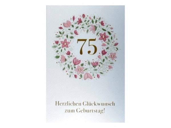 Geburtstagskarte ABC 95 Zahlengeburtstag Marienkäfer