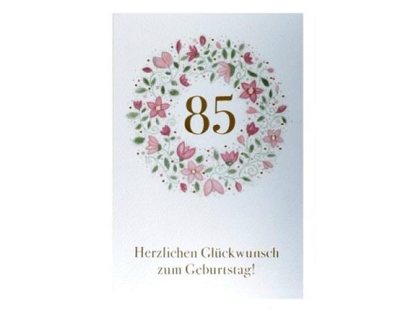 Geburtstagskarte ABC 100 Zahlengeburtstag Blumenstrauss
