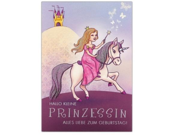 Geburtstagskarte ABC kleine Prinzessin 11,5x17cm
