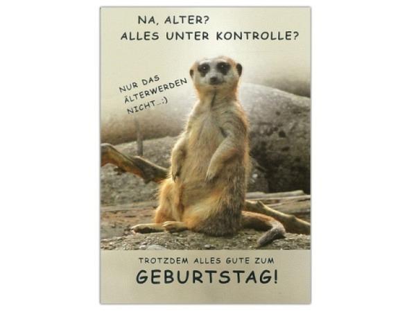 Geburtstagskarte ABC Erdmännchen - Na, Alter?