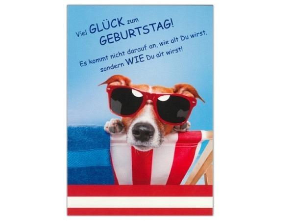 Geburtstagskarte ABC Sonnenliege 11,5x17cm