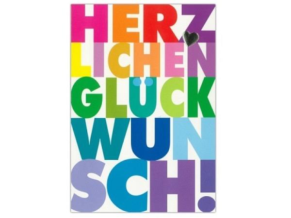Geburtstagskarte ABC Herzlichen Glückwunsch 11,5x17cm