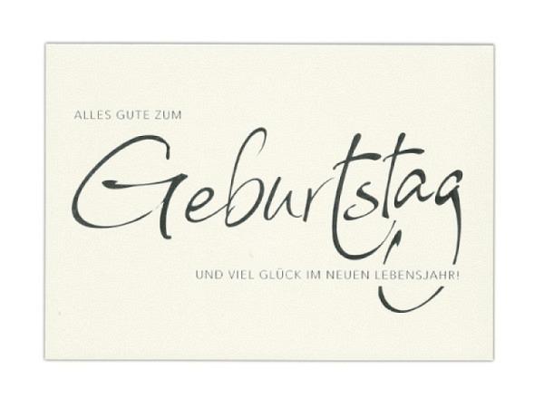 Geburtstagskarte ABC White-Line Geburtstag 11,5x17cm