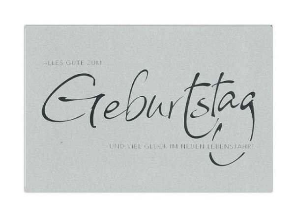 Geburtstagskarte ABC Silver-Line Geburtstag 11,5x17cm,
