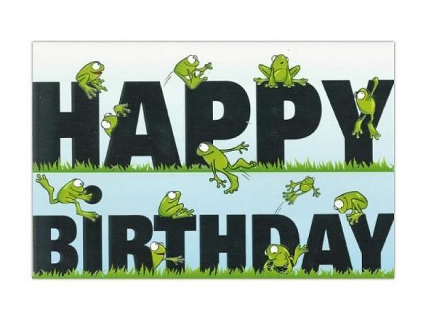 Geburtstagskarte ABC Frösche 11,5x17cm