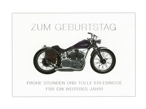 Geburtstagskarte ABC Motorrad 11,5x17cm