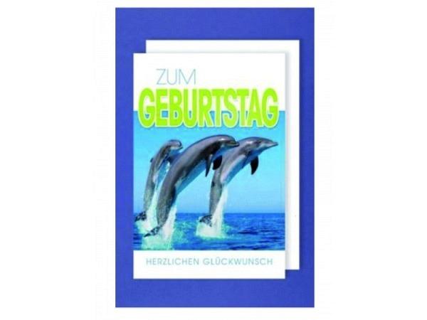 Geburtstagskarte AvanCarte Delfin, springende Delfine