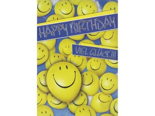 Geburtstagskarte Borer Smileys A4 21x29,7cm