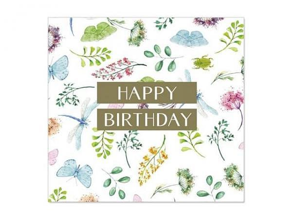 Geburtstagskarte Artebene Mini Blüte 8x8cm