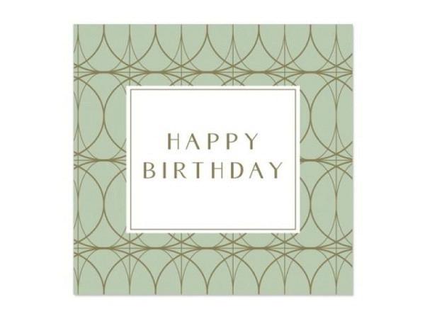 Geburtstagskarte Artebene Mini Mint 8x8cm