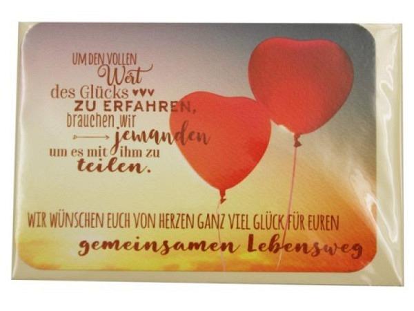 Vermählungskarte Gollong Doppelkarte quer zur Hochzeit, mit Text, ohne Einlageblatt