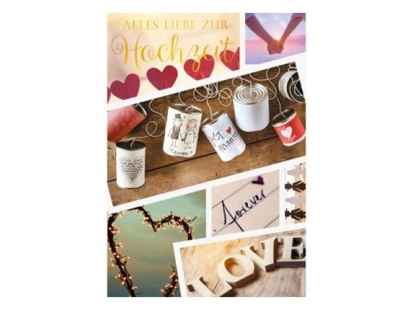 Vermählungskarte ABC zur Verlobung 12,5x17,5cm
