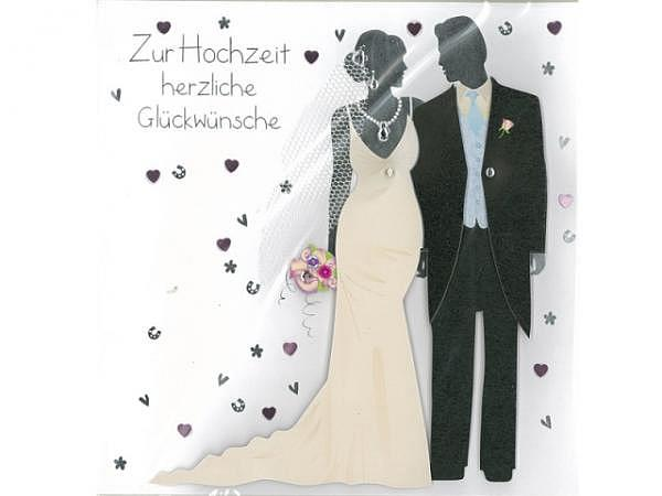 Vermählungskarte AvanCarte Big Square Hochzeitskleider