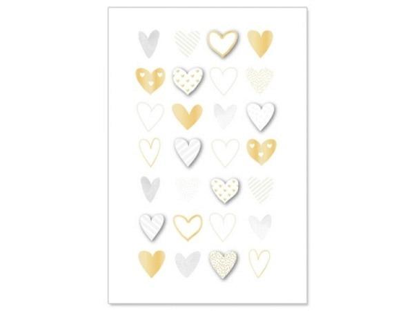 Vermählungskarte Artebene Hochzeits-Herzen