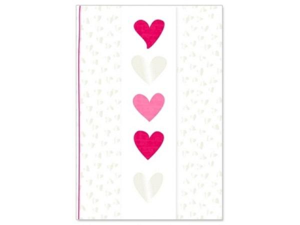 Vermählungskarte Artebene Herzen transparent