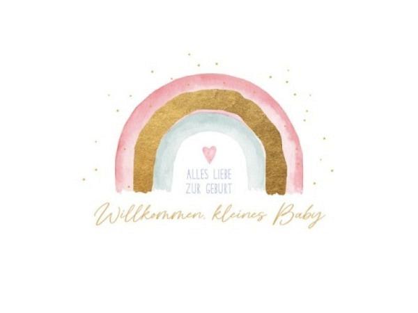 Ereigniskarte Hallmark Signature Elefantengirl, rosa Filzkarte
