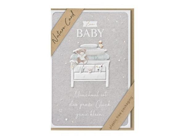 Ereigniskarte Hartung Goldstück Born to be loved 12x17cm