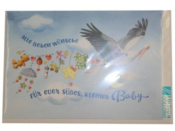 Ereigniskarte blaue Babyschüchen