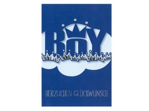 Ereigniskarte Borer Boy blau 11,5x17cm