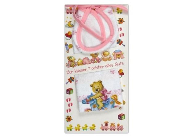 Ereigniskarte AvanCarte Babylätzchen, rosa