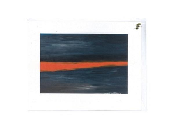Trauerkarte Reiter Sonnenaufgang in Male