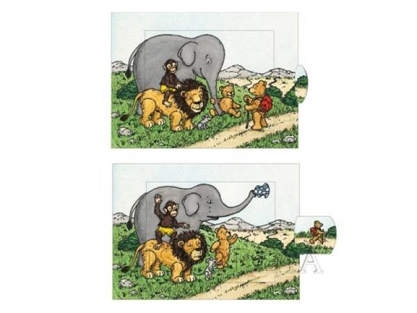Karte Zürich Niederdorf A5 14,8x21cm, weisse Doppelkarte