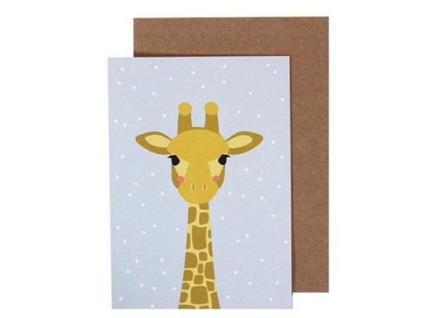 Karte Ava&Yves Giraffe A6 14,8x10,5cm
