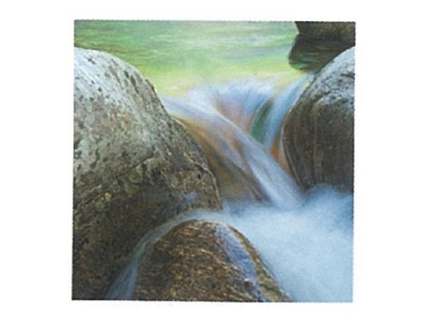 Karte Art Bula 12,2x12,2cm fliessendes Wasser durch Steine