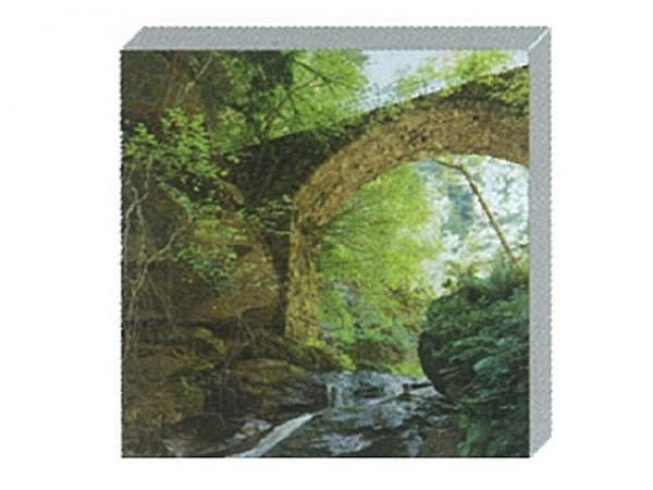 Kartenbox Art Bula 5er Set, 12,2x12,2cm Brücken im Wald