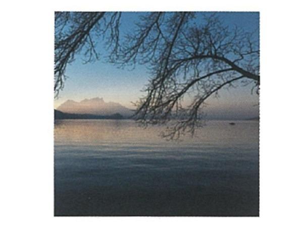 Karte Art Bula 12,2x12,2cm See in der Abendsonne