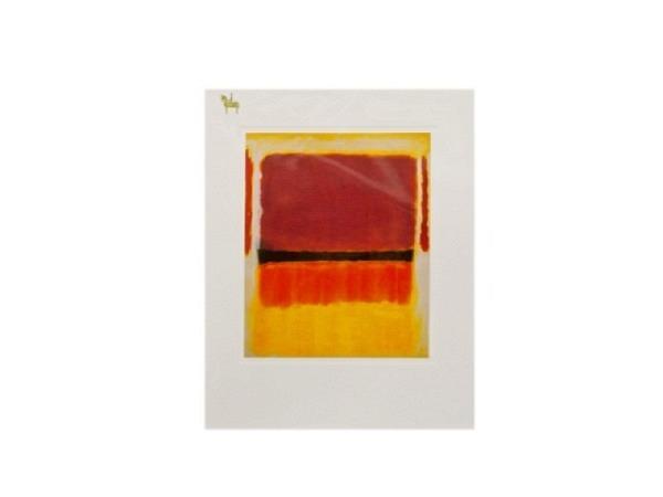 Karte Reiter Rothko Mark Violet, Black, Orange, Yellow.