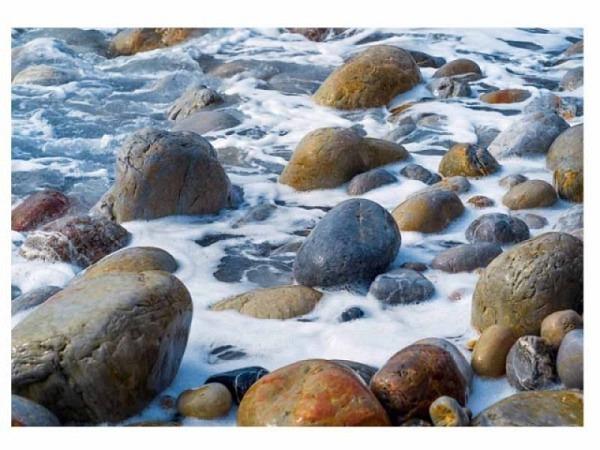 Karte Art Bula 14,8x21cm wildes Wasser durch Steine