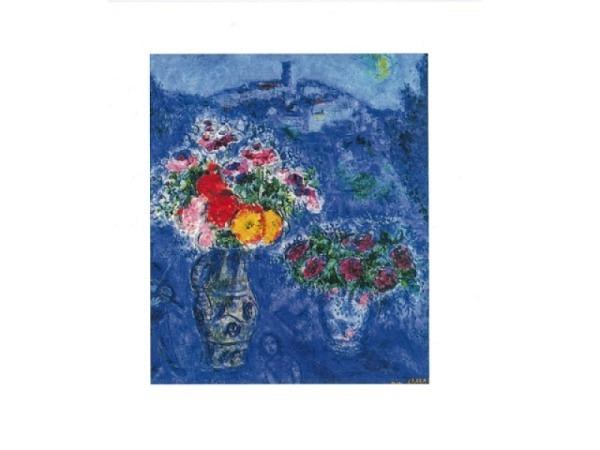 Karte Reiter Chagall Marc,  Bouquet de violettes