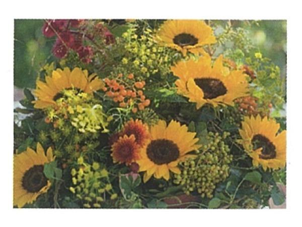 Karte Art Bula 12,2x17,5cm Strauss mit Sonnenblumen